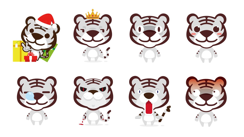 东道为国美设计的吉祥物——小虎