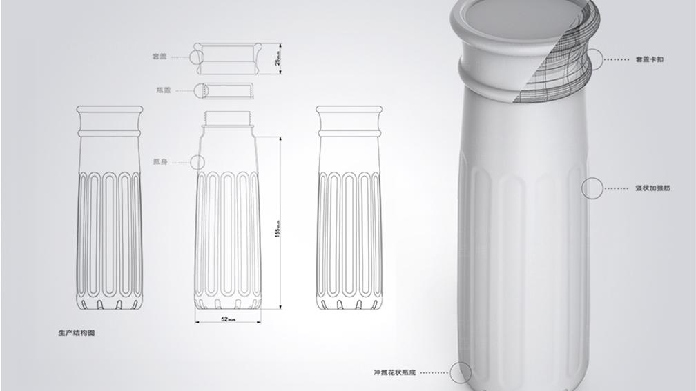 产品包装伊利瓶型设计应用