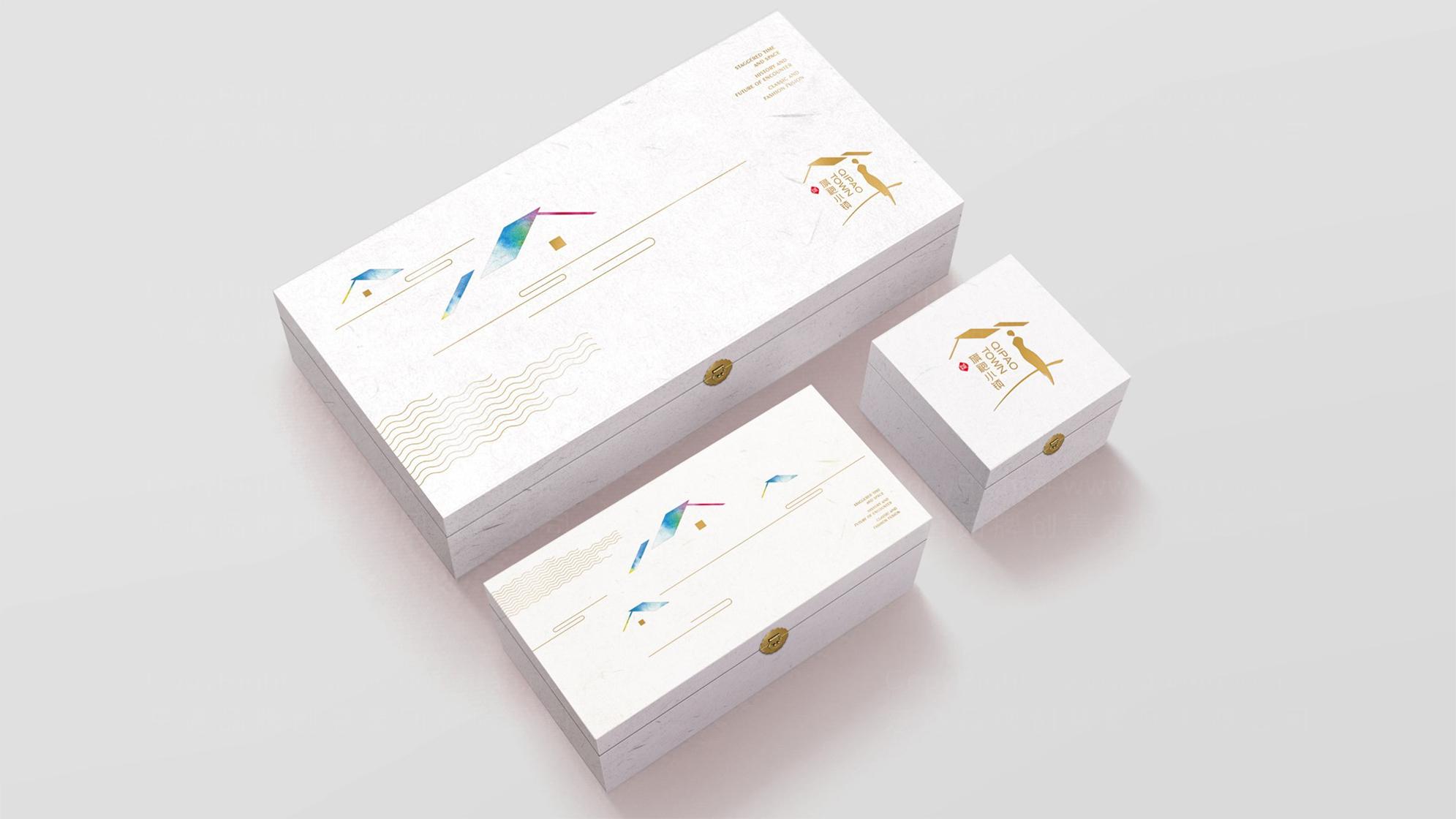 旗袍小镇logo设计、vi设计应用场景_1