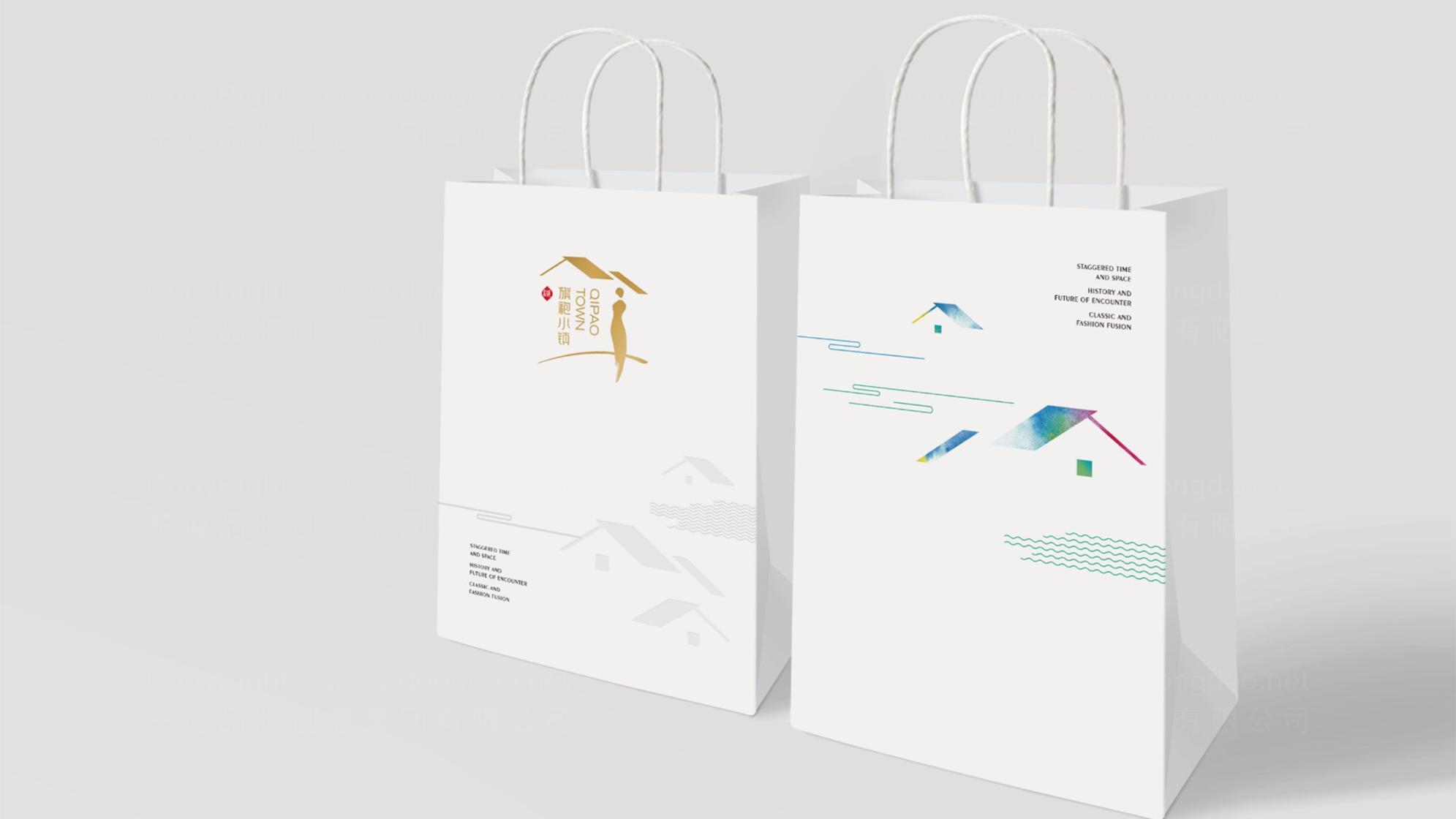 旗袍小镇logo设计、vi设计应用场景_2