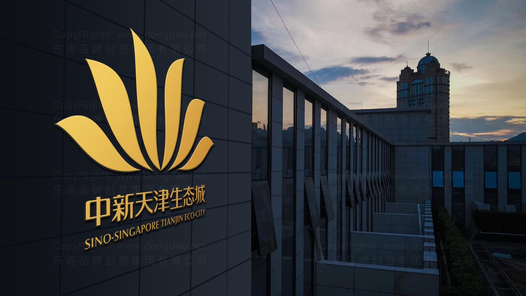 天津中新生态城logo设计、vi设计应用场景_4