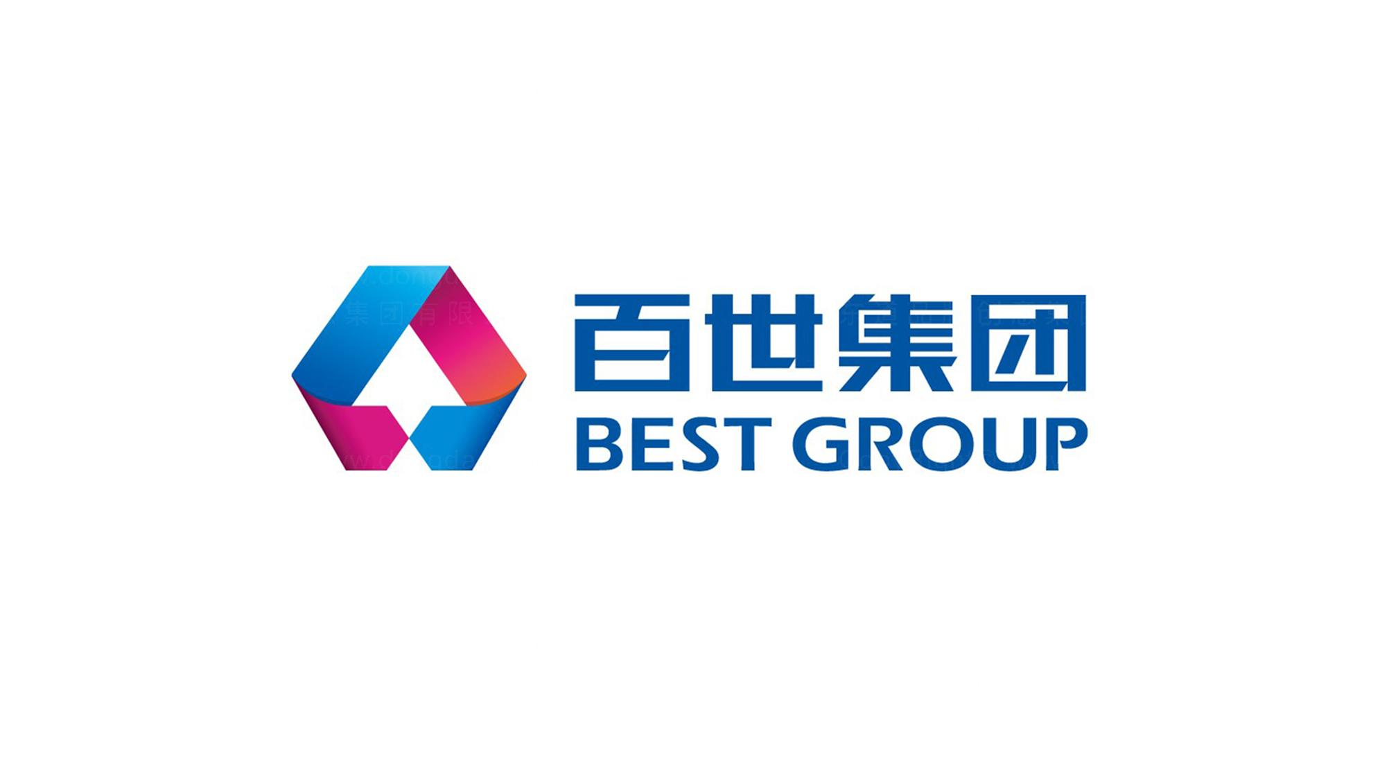百世物流logo设计2