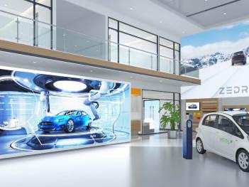 商业空间&导示新能源汽车形象店EI设计国机智骏商业空间&导示方案