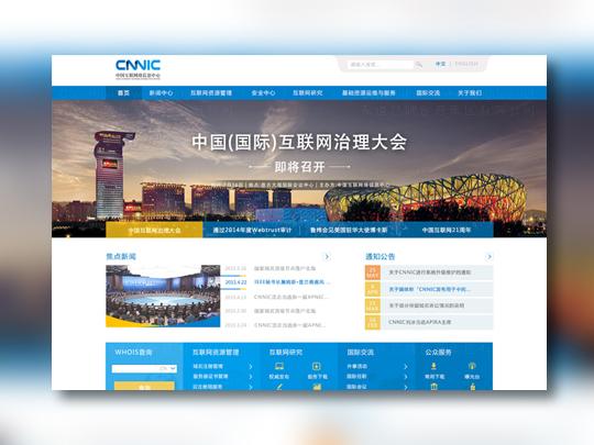中国互联网络信息中心网站设计