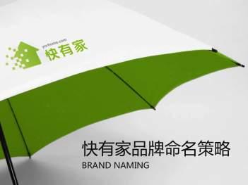 品牌战略&企业文化品牌策略与品牌命名快有家品牌战略&企业文化方案