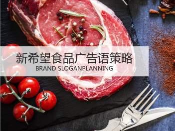 品牌战略&企业文化品牌标识语新希望食品品牌战略&企业文化方案