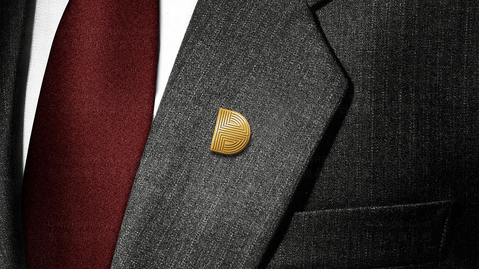 品牌设计弘达金融logo设计、vi设计应用场景_5