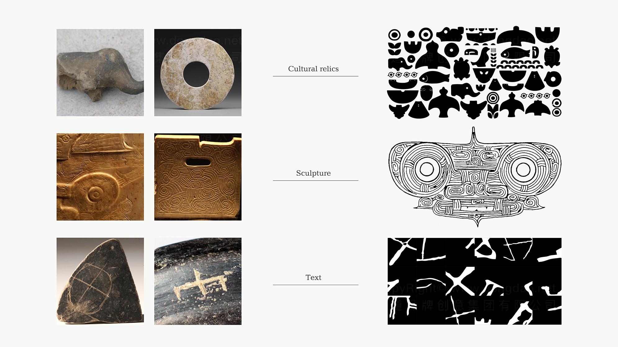 良渚文化logo设计应用