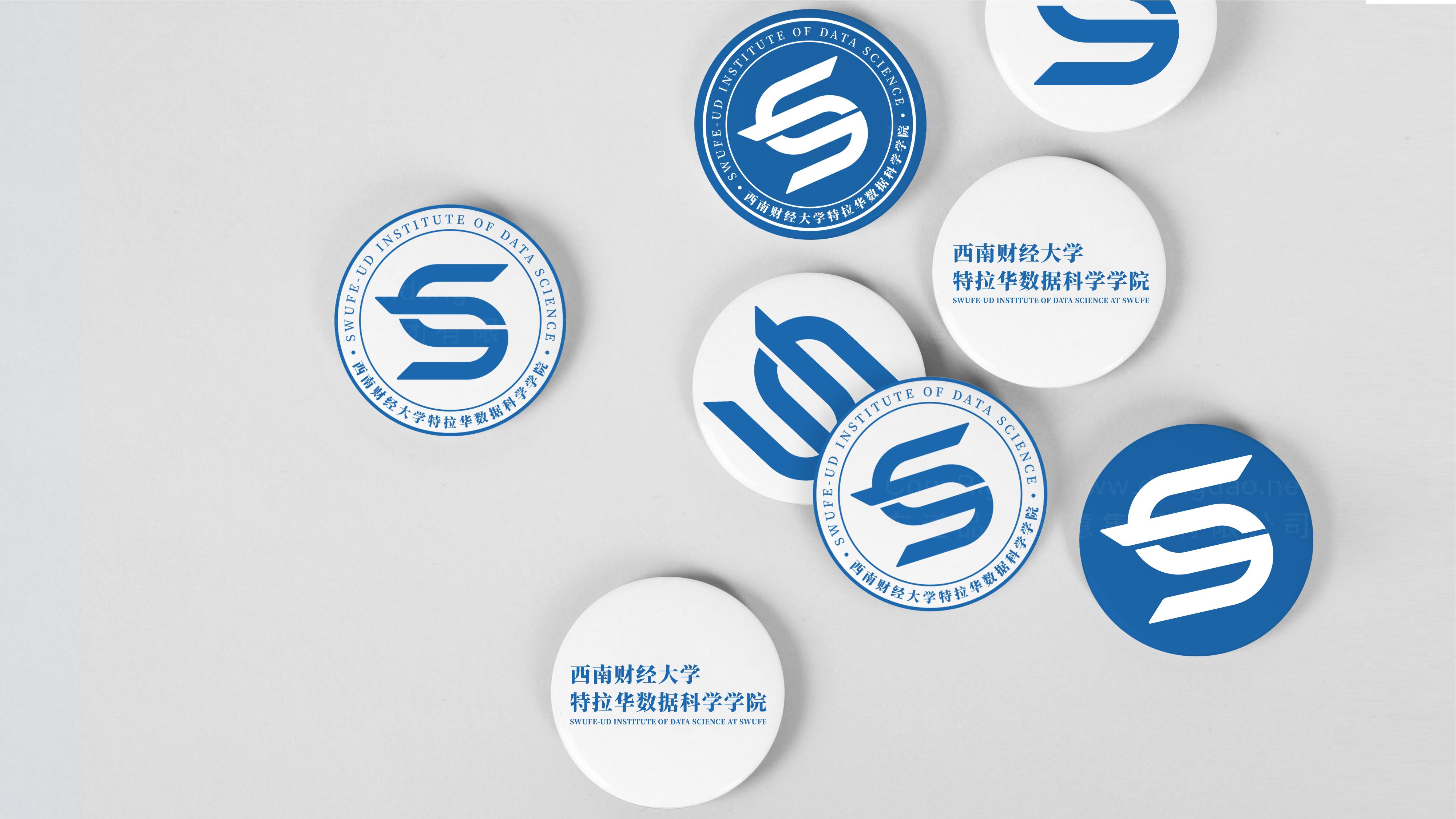 品牌设计西南财大-特拉华学院logo设计、vi设计应用