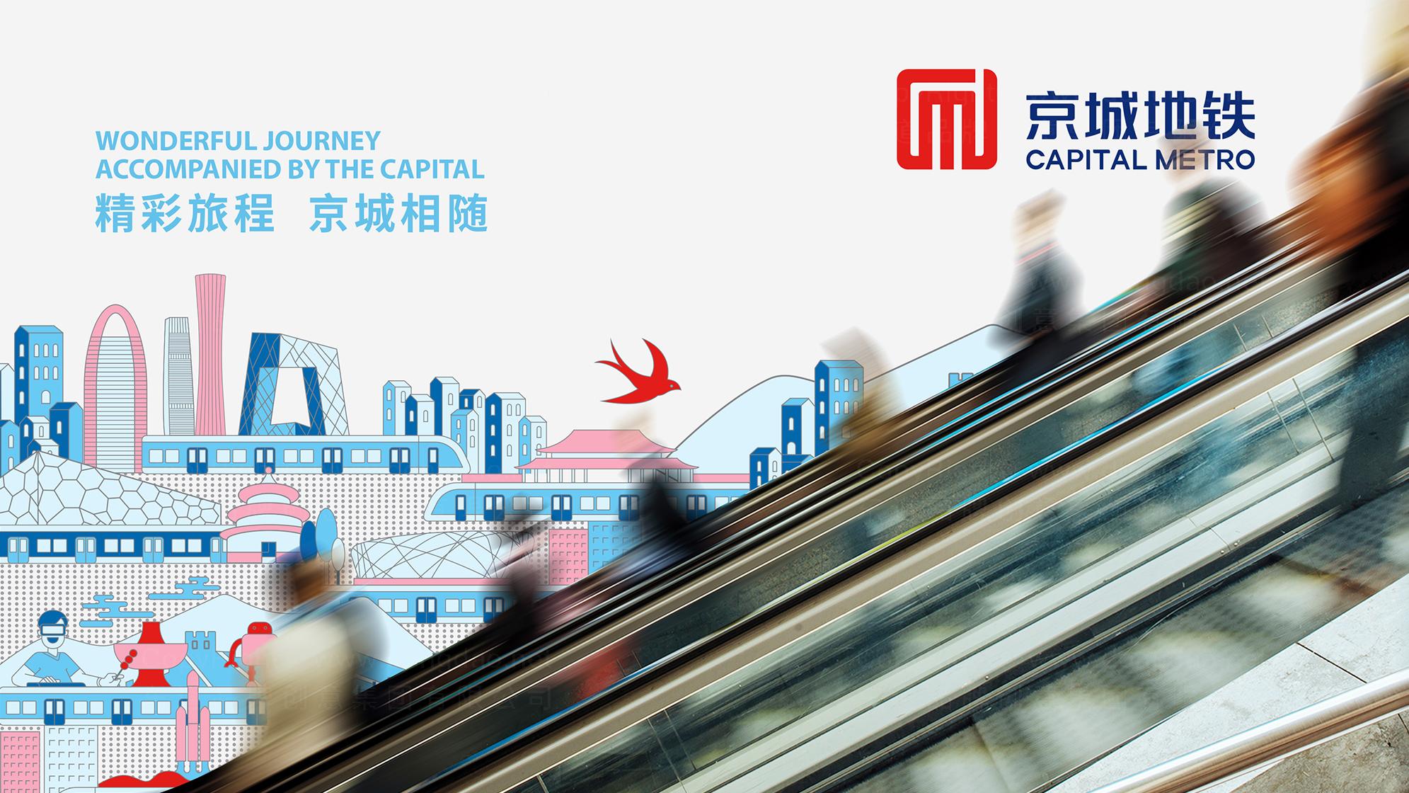 品牌设计京城地铁LOGO&VI设计应用场景