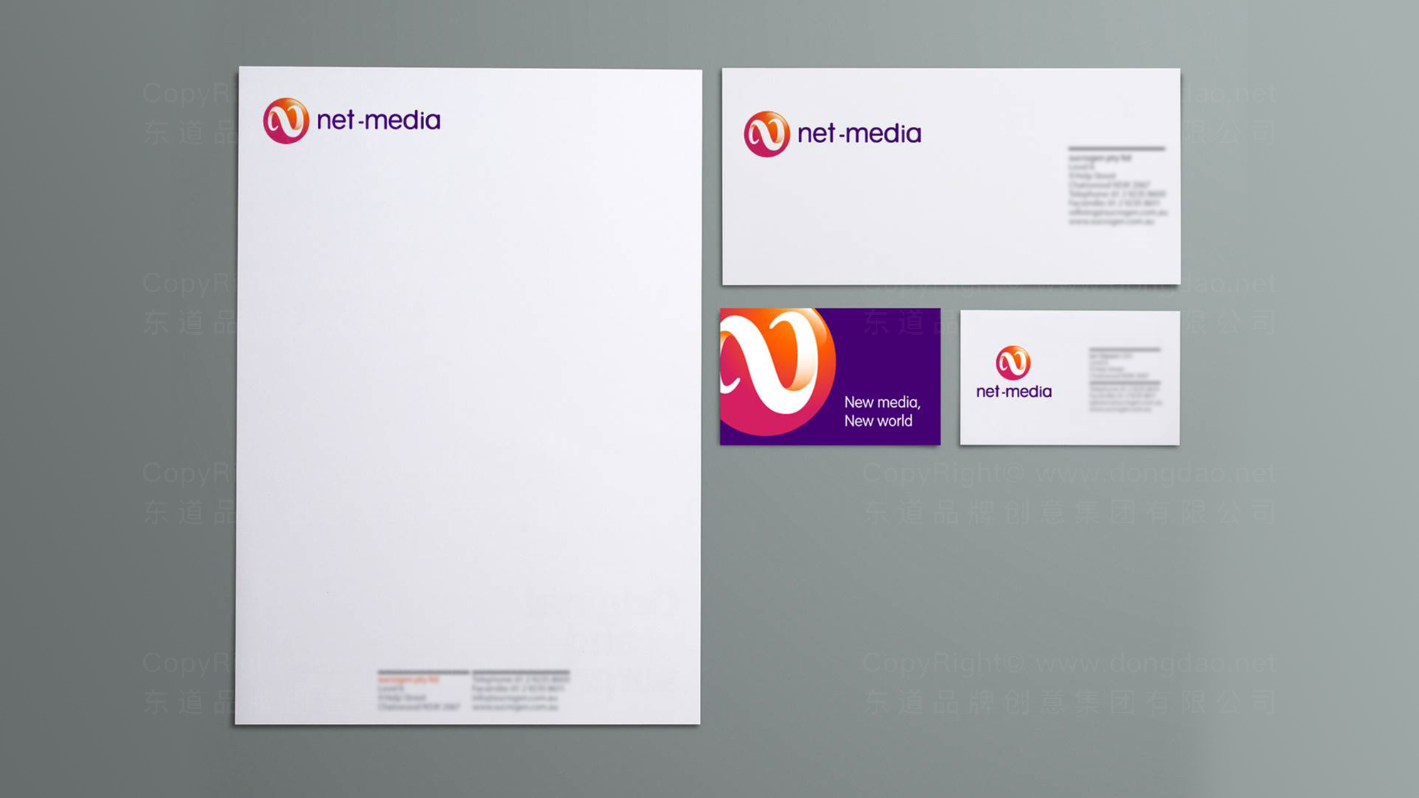 传媒公司logo标志设计应用场景_2