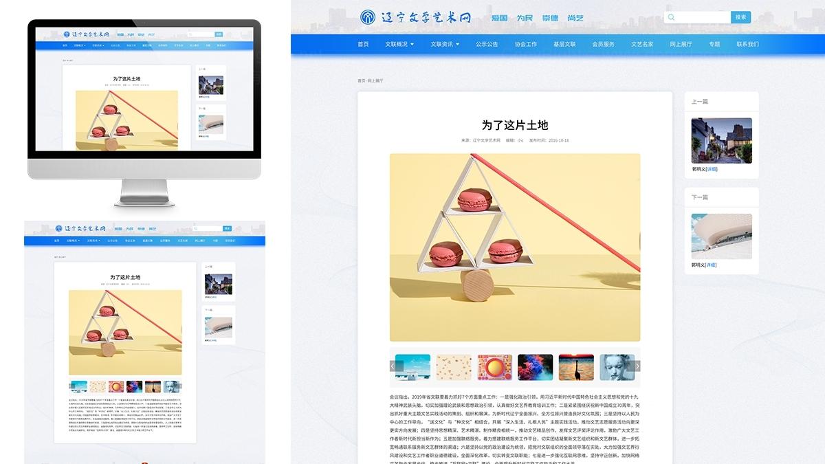 东道数字辽宁文学艺术网网站设计应用场景_4