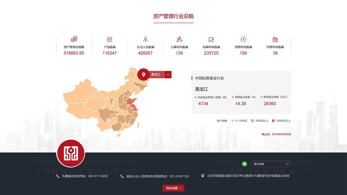 东道数字中国证券投资基金业协会网站页面设计应用
