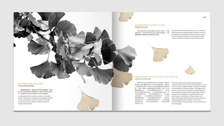 北京大学120周年校庆画册设计应用场景