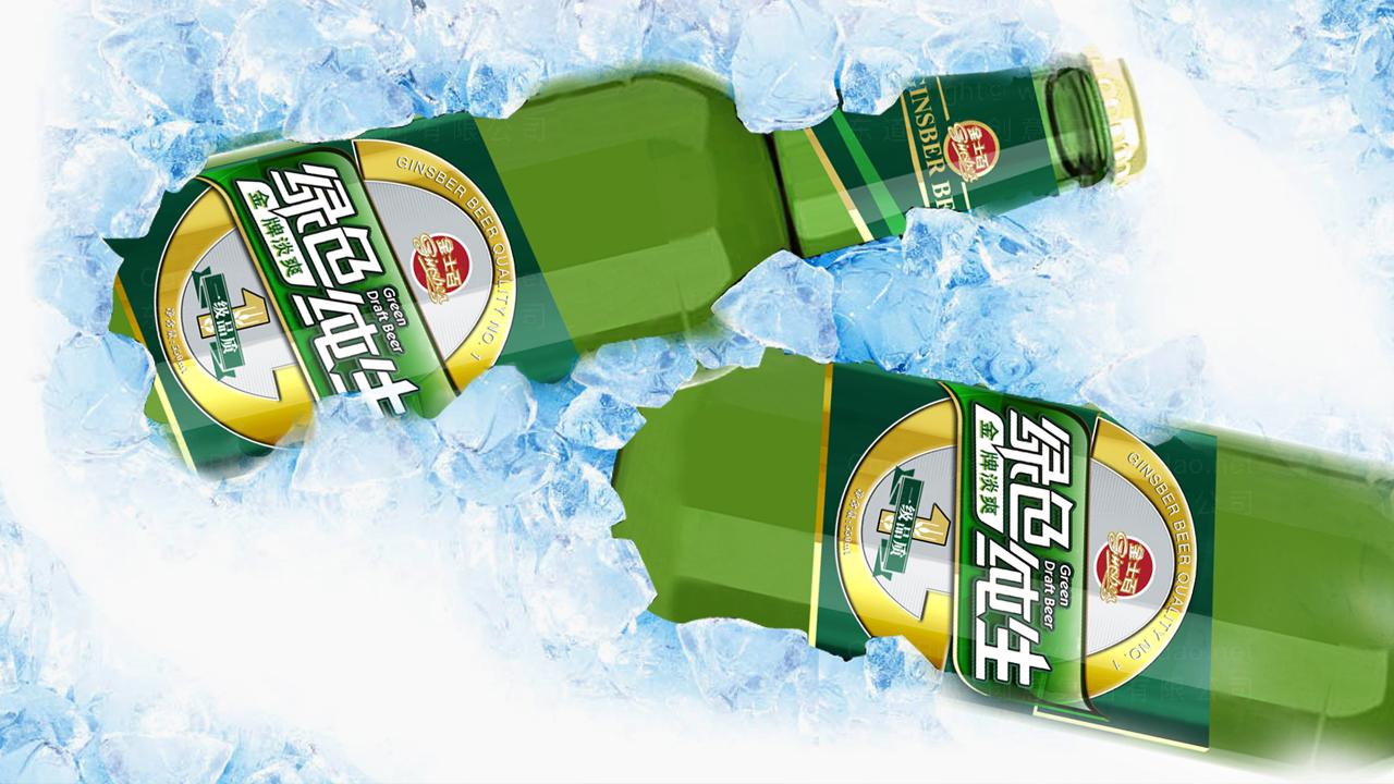 快速消费产品包装金士百啤酒品牌包装