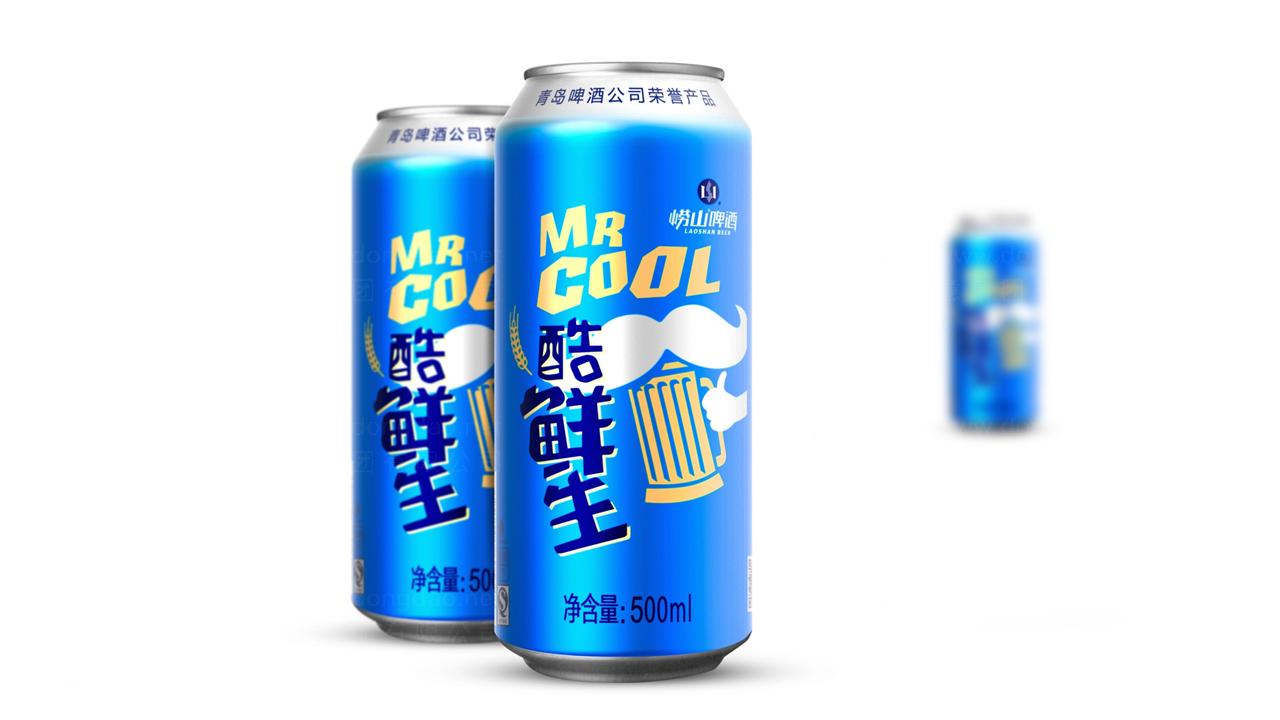 产品包装崂山啤酒酷鲜生包装设计应用场景