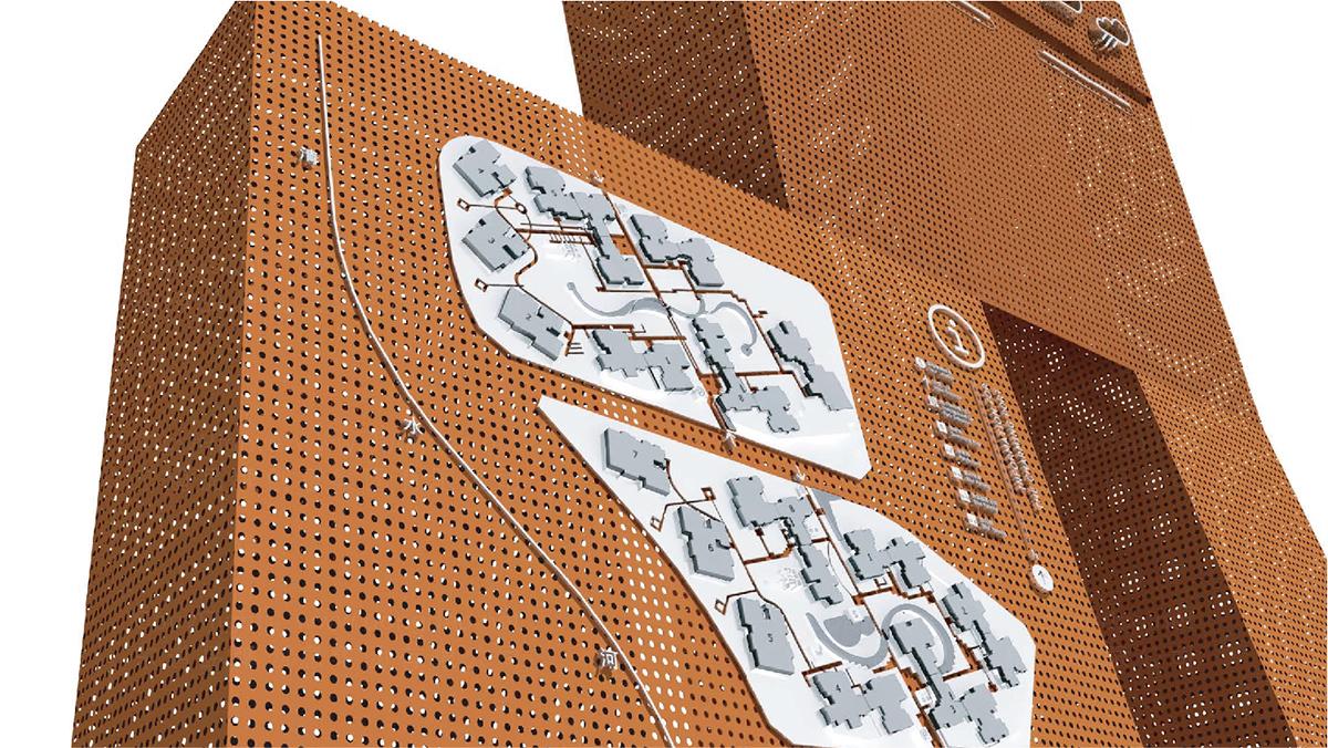 地产建筑商业空间&导示龙湖地产环境导示