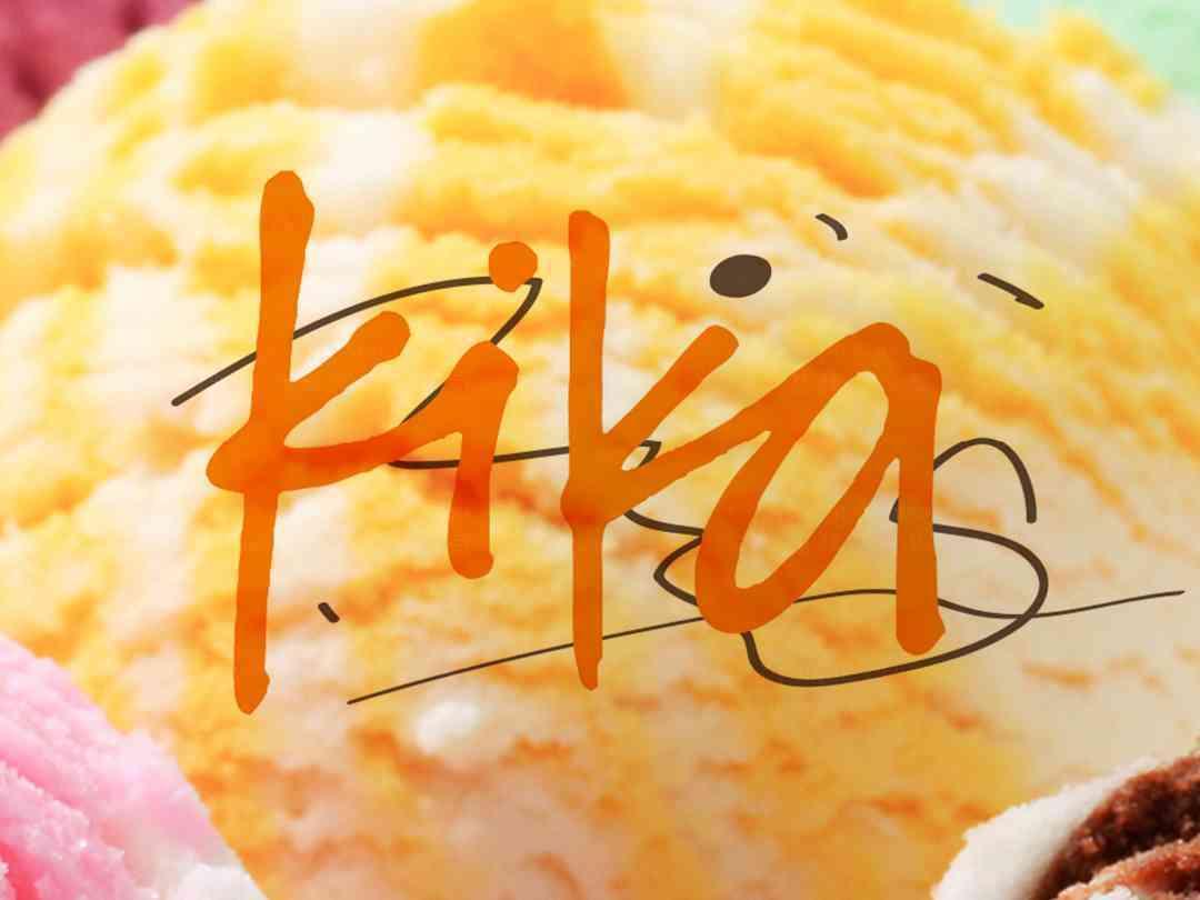品牌设计LOGO&VI设计kika冰淇淋品牌设计方案