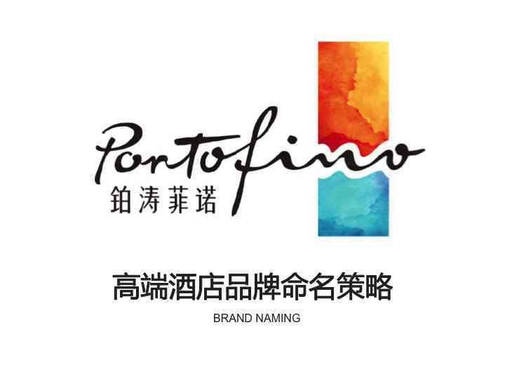 品牌战略&企业文化酒店品牌命名铂涛菲诺酒店品牌战略&企业文化方案